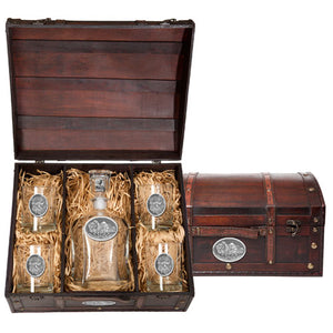 BUFFALO CAPITOL DECANTER CHEST SET