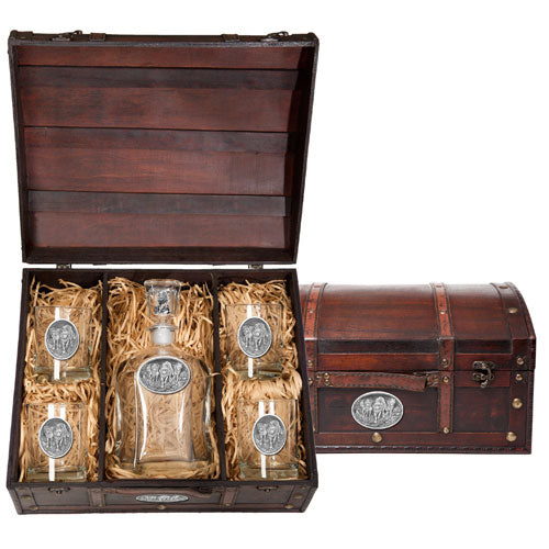 WOLVES CAPITOL DECANTER CHEST SET