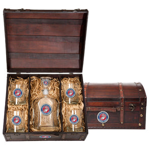 MARINE CORPS CAPITOL DECANTER CHEST SET