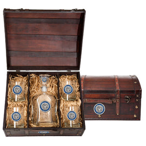 NAVY CAPITOL DECANTER CHEST SET