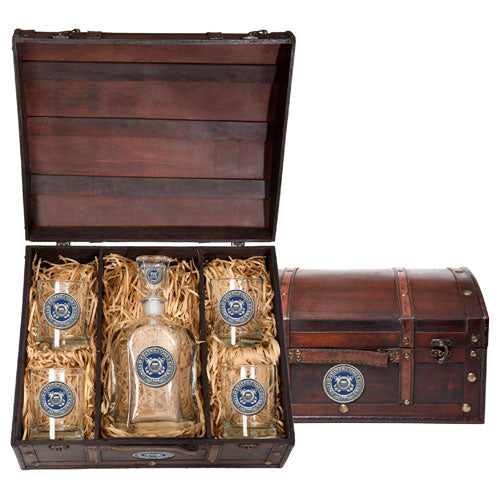 COAST GUARD CAPITOL DECANTER CHEST SET