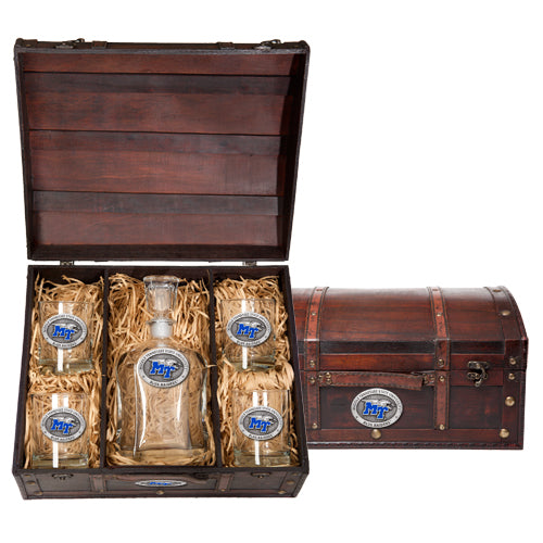 MIDDLE TENNESSEE STATE UNIVERSITY CAPITOL DECANTER CHEST SET