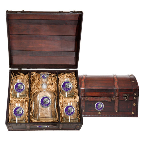 LSU NATIONAL CHAMPIONS 2019 CAPITOL DECANTER CHEST SET