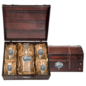 BROWN BEAR CAPITOL DECANTER CHEST SET