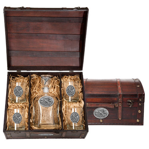 PHEASANT CAPITOL DECANTER CHEST SET
