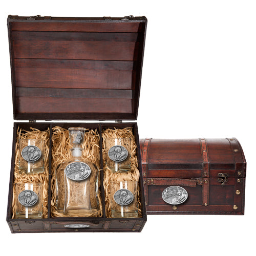 RACCOON CAPITOL DECANTER CHEST SET