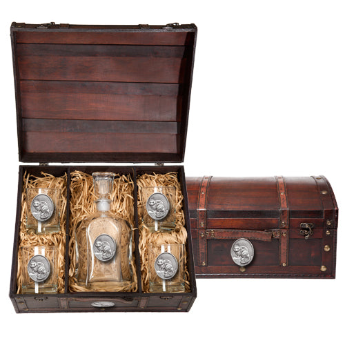 CHIPMUNK CAPITOL DECANTER CHEST SET
