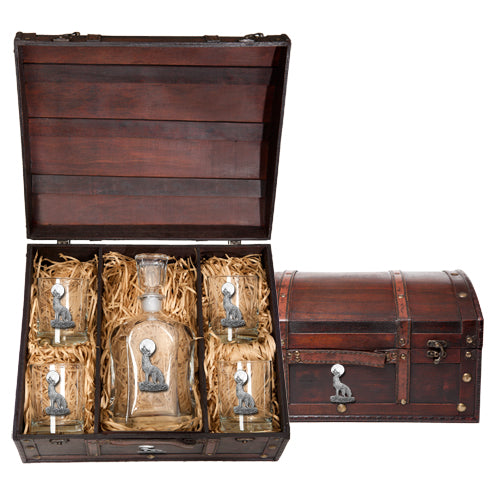 COYOTE CAPITOL DECANTER CHEST SET