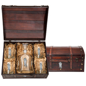CHILI CAPITOL DECANTER CHEST SET