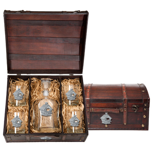 BIRDHOUSE CAPITOL DECANTER CHEST SET