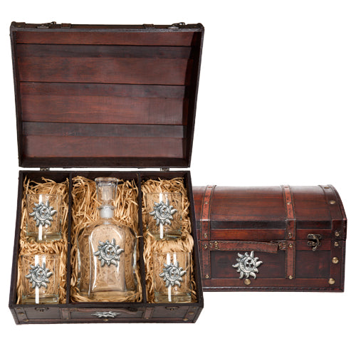 CELESTIAL CAPITOL DECANTER CHEST SET