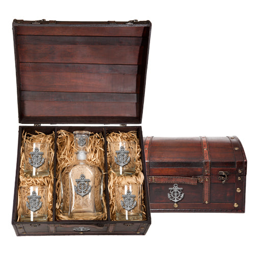 ANCHOR CAPITOL DECANTER CHEST SET