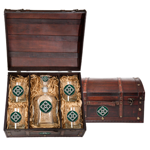 CELTIC KNOT CAPITOL DECANTER CHEST SET