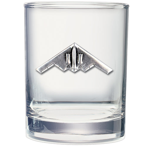 B-2 BOMBER DOUBLE OLD FASHIONED GLASS