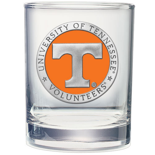 UNIVERSITY OF TENNESSEE DOUBLE OLD FASHIONED GLASS