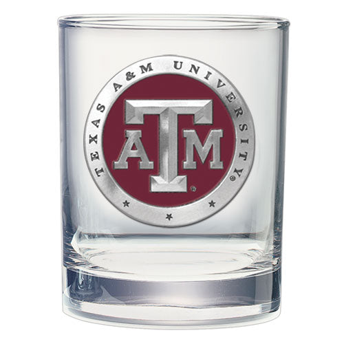 TEXAS A&M UNIVERSITY DOUBLE OLD FASHIONED GLASS