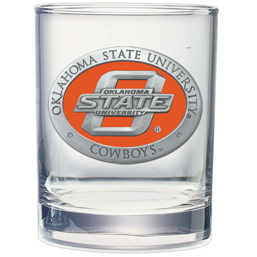 OKLAHOMA STATE UNIVERSITY DOUBLE OLD FASHIONED GLASS
