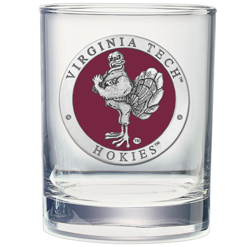 VIRGINIA TECH UNIVERSITY HOKIES DOUBLE OLD FASHIONED GLASS