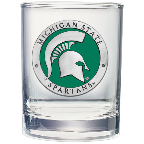 MICHIGAN STATE UNIVERSITY DOUBLE OLD FASHIONED GLASS