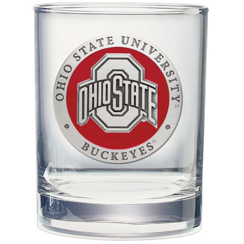 OHIO STATE UNIVERSITY DOUBLE OLD FASHIONED GLASS