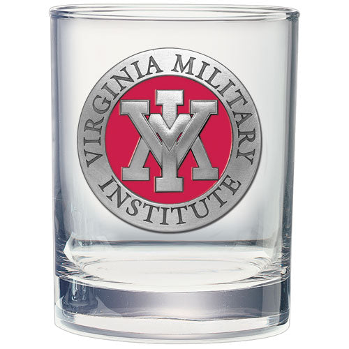 VIRGINIA MILITARY INSTITUTE DOUBLE OLD FASHIONED GLASS