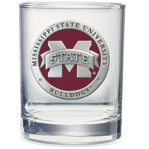 Mississippi State University Double Old Fashioned Glass