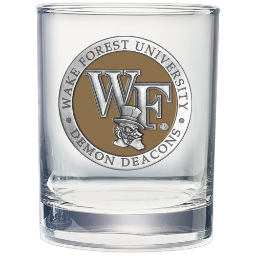 WAKE FOREST UNIVERSITY DOUBLE OLD FASHIONED GLASS