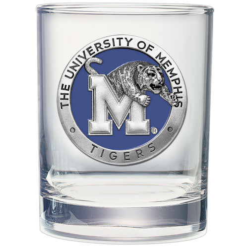 MEMPHIS TIGERS DOUBLE OLD FASHIONED GLASS