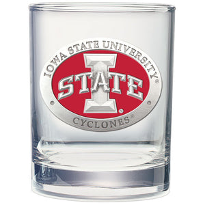 IOWA STATE UNIVERSITY DOUBLE OLD FASHIONED GLASS