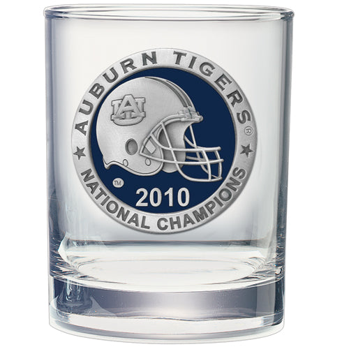AUBURN UNIVERSITY NATIONAL CHAMPIONS 2010 DOUBLE OLD FASHIONED GLASS