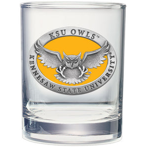 KENNESAW STATE UNIVERSITY DOUBLE OLD FASHIONED GLASS