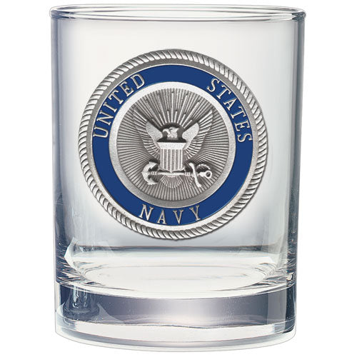 NAVY DOUBLE OLD FASHIONED GLASS