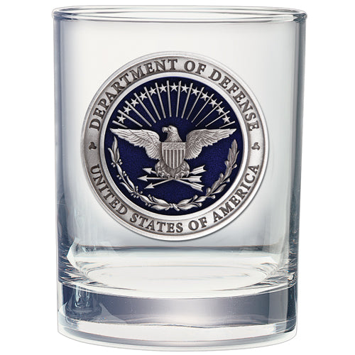 USA Department of Defense Double Old Fashioned Glass