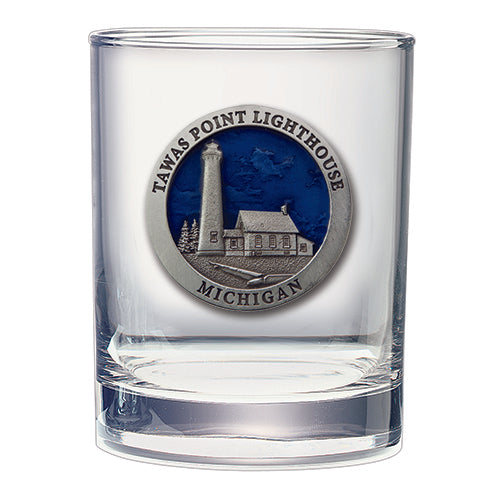 Michigan Tawas Point Lighthouse Double Old Fashioned Glass