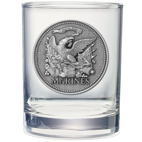 MARINES HISTORIC DOUBLE OLD FASHIONED GLASS