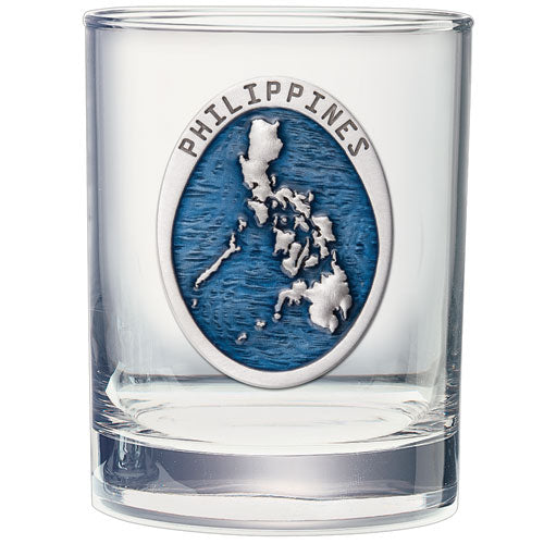 PHILIPPINES MAP DOUBLE OLD FASHIONED GLASS