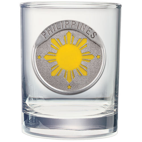 PHILIPPINES SUN DOUBLE OLD FASHIONED GLASS