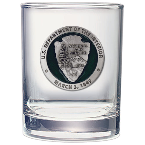 National Park Service Double Old Fashioned Glass
