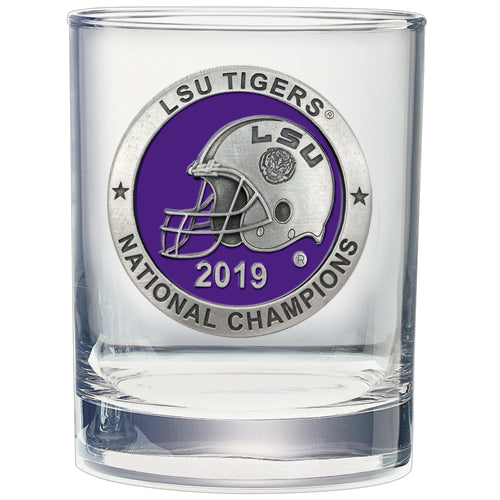 LSU NATIONAL CHAMPIONS 2019 DOUBLE OLD FASHIONED GLASS