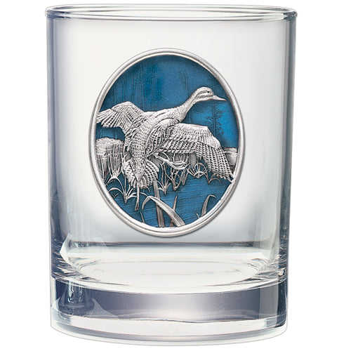 PINTAIL DUCK DOUBLE OLD FASHIONED GLASS