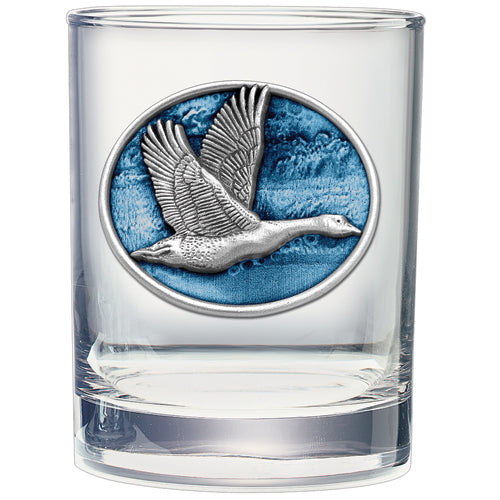 CANADIAN GOOSE DOUBLE OLD FASHIONED GLASS