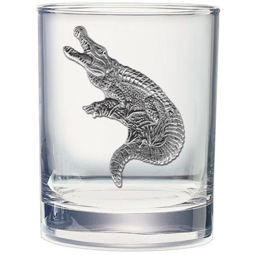 ALLIGATOR DOUBLE OLD FASHIONED GLASS