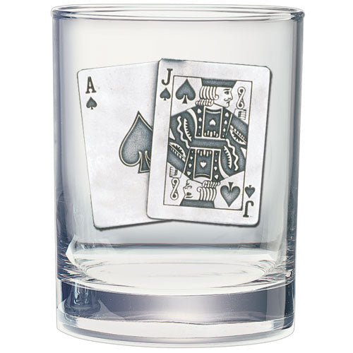 BLACK JACK DOUBLE OLD FASHIONED GLASS