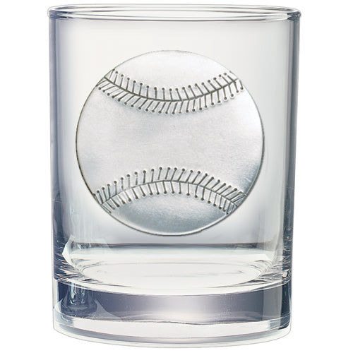 BASEBALL DOUBLE OLD FASHIONED GLASS