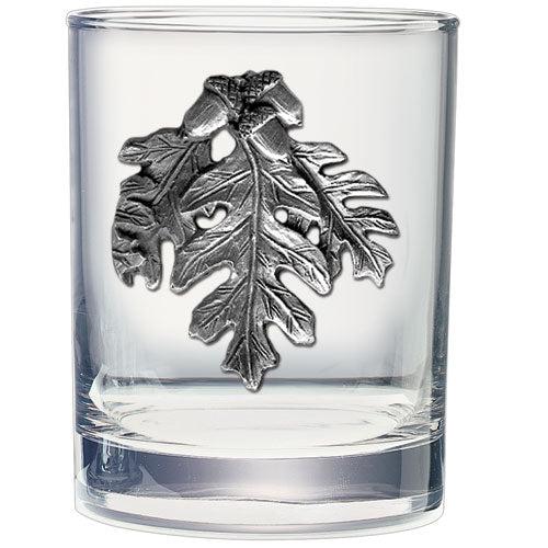 OAK LEAF DOUBLE OLD FASHIONED GLASS