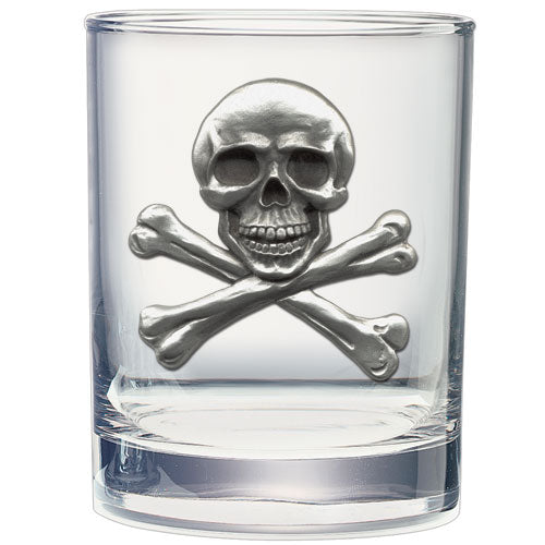 SKULL AND BONES DOUBLE OLD FASHIONED GLASS