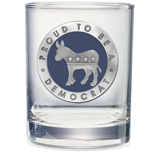 DEMOCRAT DOUBLE OLD FASHIONED GLASS