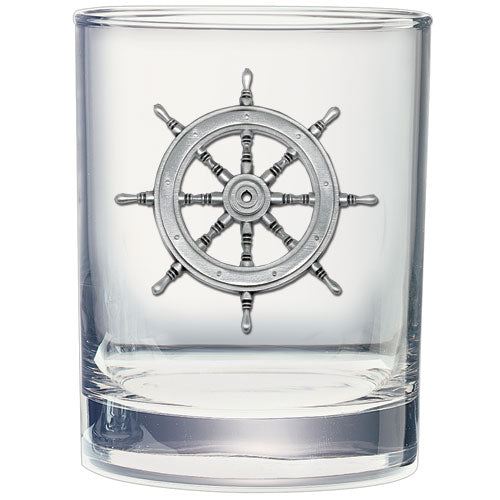 SHIP WHEEL DOUBLE OLD FASHIONED GLASS