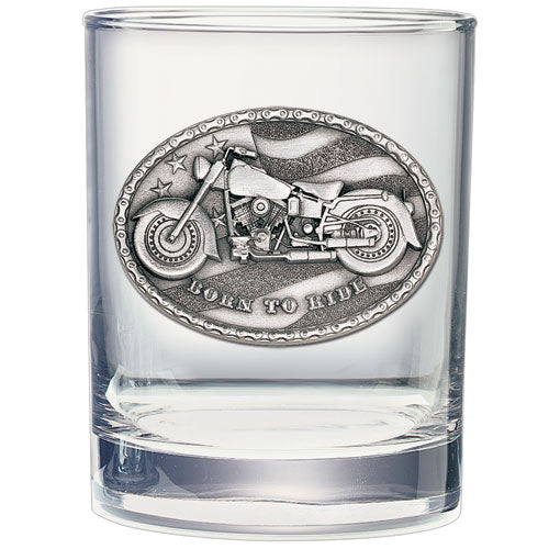 MOTORCYCLE DOUBLE OLD FASHIONED GLASS