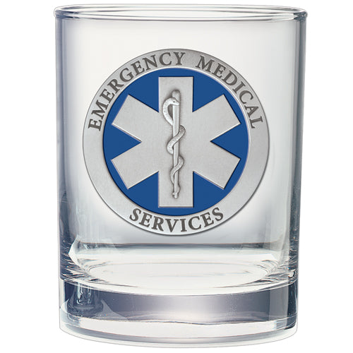 EMERGENCY MEDICAL DOUBLE OLD FASHIONED GLASS